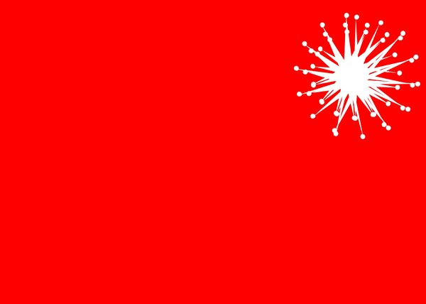 Very Merry: A Christmas background in red with a white star symbol.