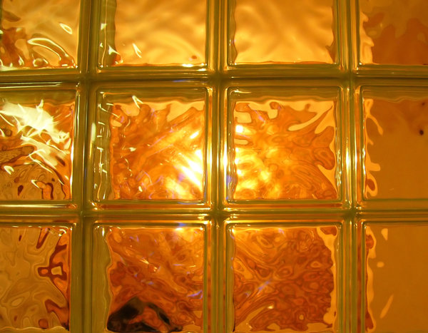 Golden Window: Light through a golden window made of small glass panels. Might be useful for image manipulations, amongst other things.