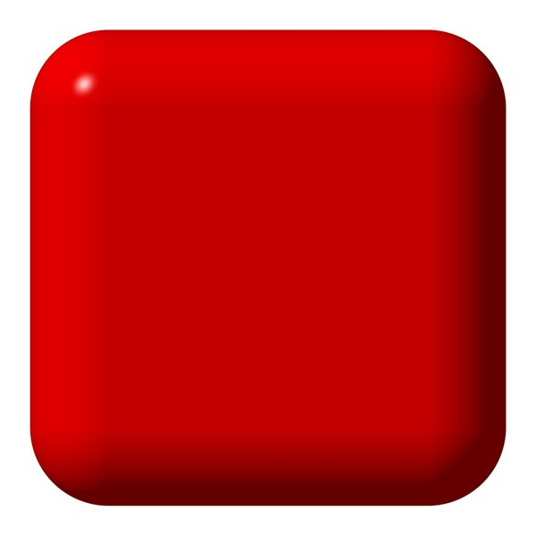 Large Red Web Button: Really big rounded square red button, useful for illustration, decoration, and websites.