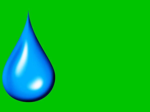 Water Droplet: Graphic water droplet against a green background. Useful for illustrating moisturiser, water conservation, ecology, save the planet, gardening sites, etc.