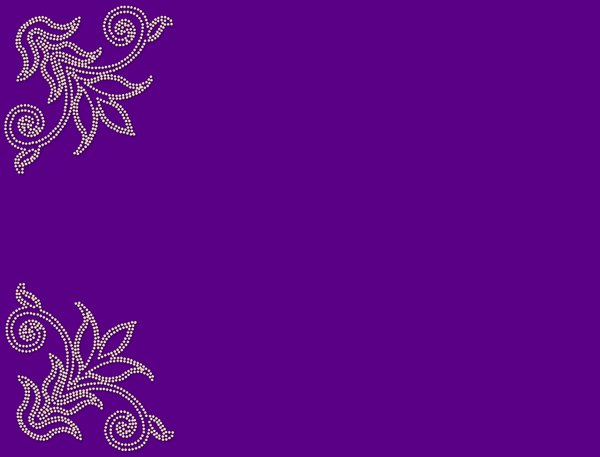 Pearl Corners 4: A pale pearl border on a plain purple background.