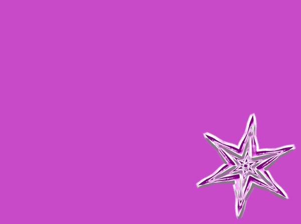 Snowflake Background 2: Christmas snowflake or star against a plain pink background. Plenty of copyspace.