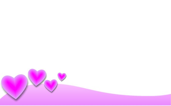 Valentine Background 4: A Valentine border and background with pink hearts.