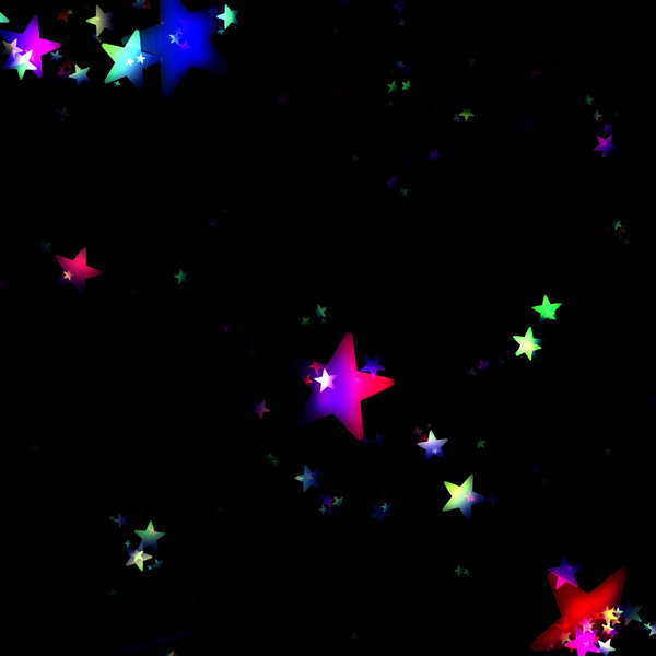 Lots of Stars 5: A black sky with rainbow coloured stars - just magic! A grat background, texture,fill, or element.