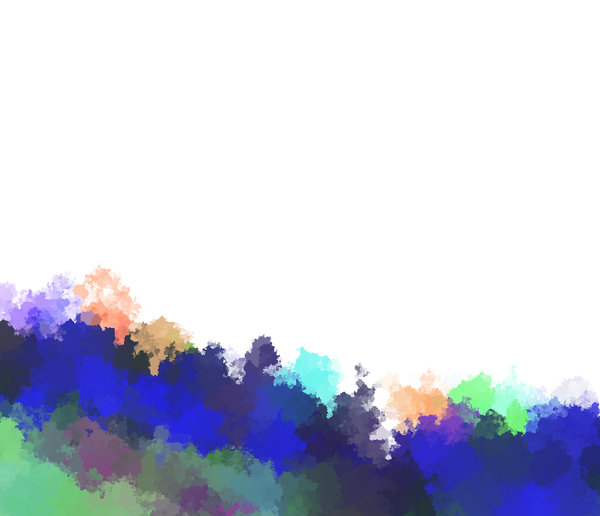 Paint Border: A colourful paint wave effect border, with plenty of copyspace.