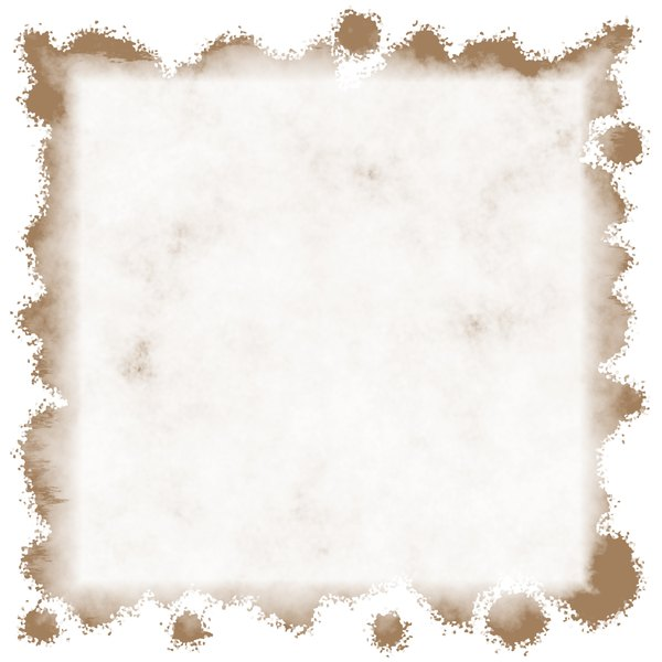 Stained Grunge Background 3: A stained white grunge background with a grungy border. Useful for paper, parchment, banners, background, texture, fill or element. Beige or sepia and white colours.
