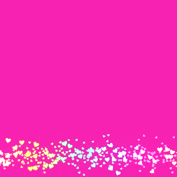 Heart Border 3: A plain pink background with a border of tiny multicoloured hearts. This would make a great card, stationery, background or texture.