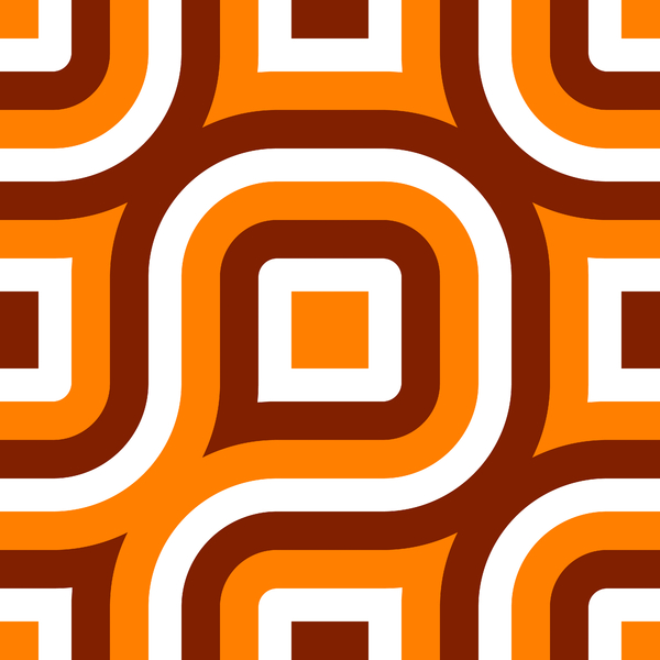 Retro Pattern 7: A retro pattern in a 1970's style and colours.Perhaps you would prefer this: http://www.rgbstock.com/photo/nw4b8FW/Retro+Pattern+1