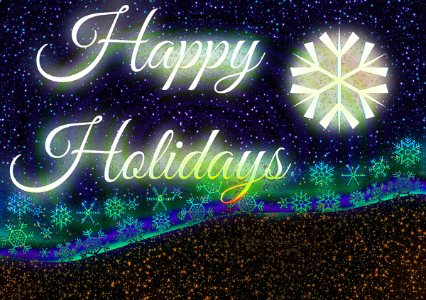 Happy Holidays 2: A sparkly, snowy seasonal greeting. Very high resolution file.