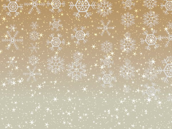 Stars Snowflakes Background 5: Sparkly stars and snowflakes on a coloured background. Great Christmas atmosphere.