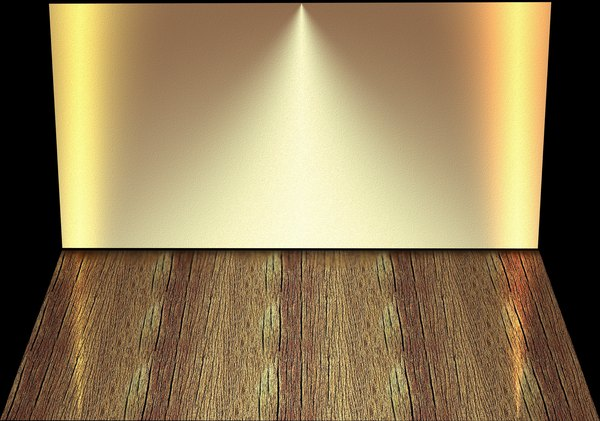 Stage Backdrop 3: A wall and floor with lighting effects that could be a stage, shelf or empty room.