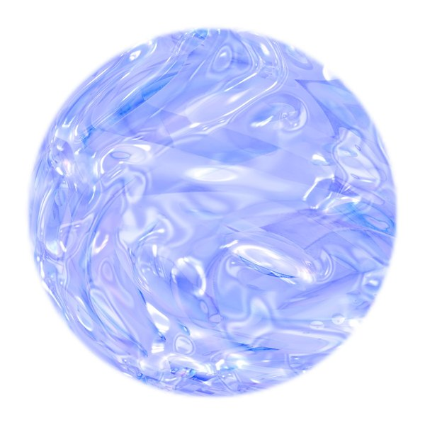 Colourful Metallic Ball 2: A blue and white metallic ball, which could be used as a Christmas bauble, a crystal ball, or in fills and fantasy backgrounds. Also makes a great texture.