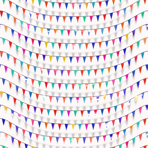 Flags or Bunting 1: A graphic of flags or bunting. Useful backdrop or texture for a celebratory feeling.