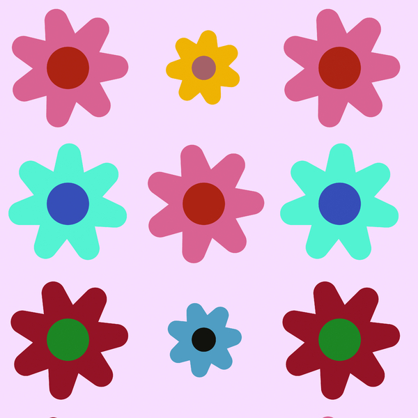 Pretty Graphic Flowers 2: A bunch of pretty graphic flowers to use for your scrapbooking or other projects, or for a special greeting or note card.