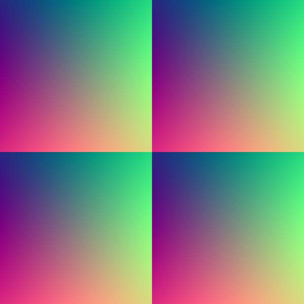 Seamless Gradient Tile 2: A seamless gradient tile in retro primary shades.