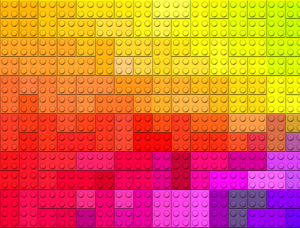 Toy Brick Texture 3: A background, fill or texture of toy plastic bricks. You may prefer:  http://www.rgbstock.com/photo/oahCgOo/Glass+Bricks+1  or:  http://www.rgbstock.com/photo/oy5Px22/Coloured+Squares+1