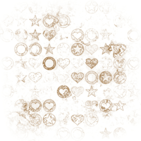 Grungy Stamp Pattern 5: A stamped pattern of hearts, circles and stars. High and very high resolution. You may prefer:  http://www.rgbstock.com/photo/nL9lzF0/Sepia+Pattern  or:  http://www.rgbstock.com/photo/odSepoS/Grungy+Stamp+Pattern+3