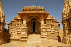 Jain temple: Jain temple in Lodurva, former capital of Rajastan, India