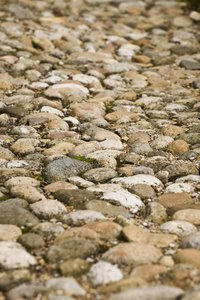 cobble stones: stone pavement