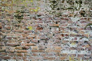 Brick wall: old grungy brick wall texture