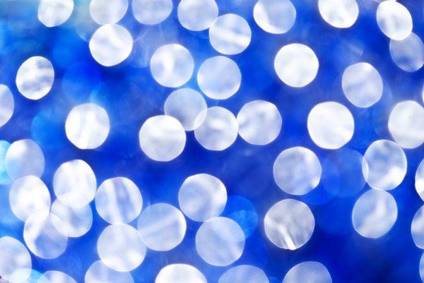 Party bokeh: party blue bokeh background