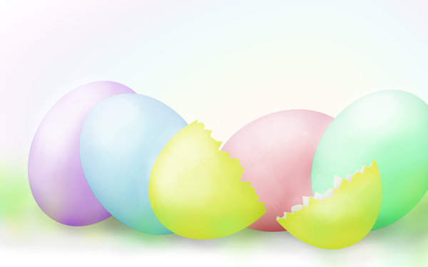 Happy Easter!: Colorful Easter eggs illustration